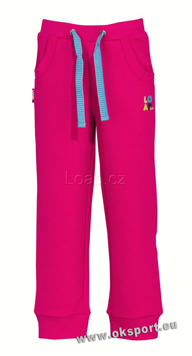 Dívčí bavlněné tepláky Loap Cak růžová 4b7244c1b2