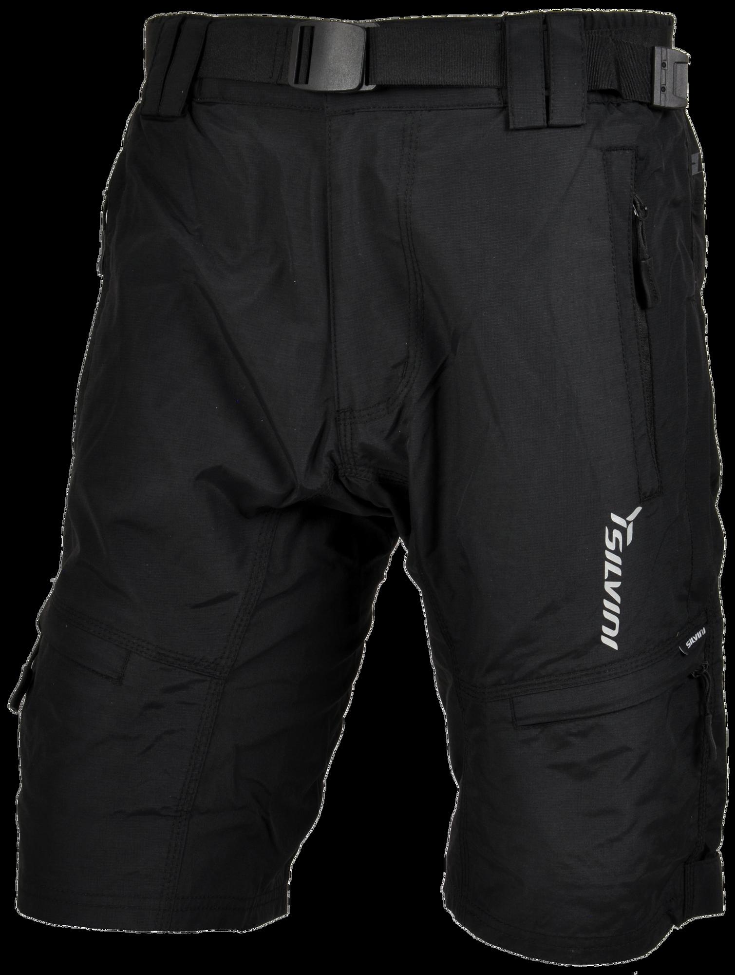 Pánské cyklistické kalhoty Silvini MTB RANGO MP857 bez cyklovložky Inner  černé 124326f02d