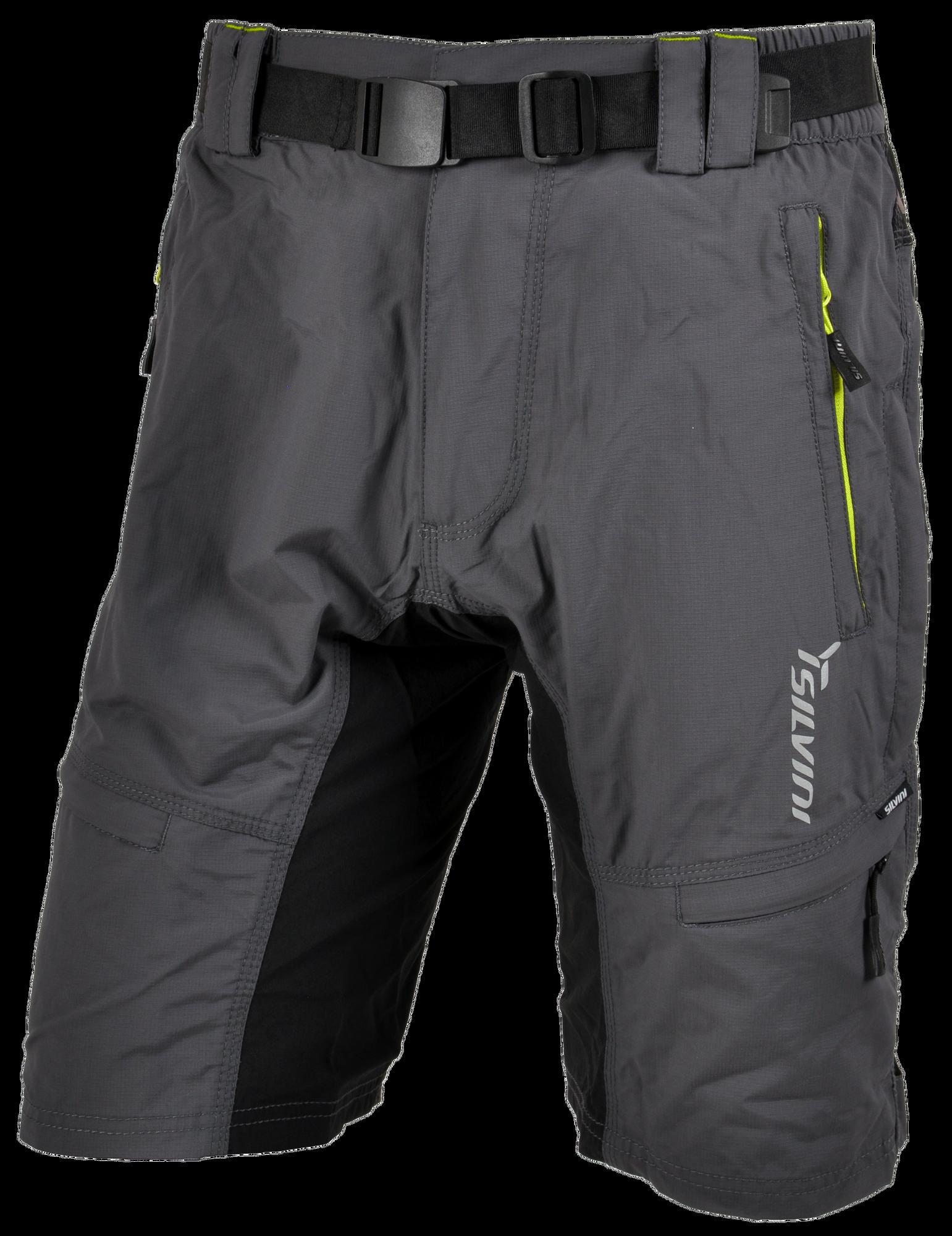 Silvini Cyklistické kalhoty MTB RANGO MP857 volné šedo zelené pánské 04c69d8267