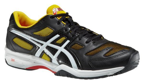 Pánská tenisová obuv Asics Gel-Solution Slam 2 E405N černá bílá žlutá d1d847683cf