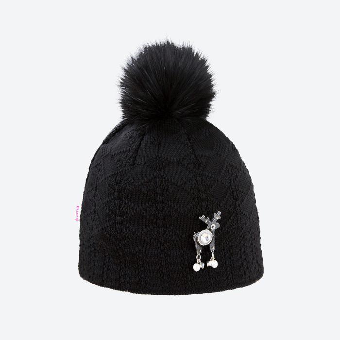Dámská luxusní čepice Kama Deers Swarowsky AD109 Verbier černá 98e40407f2