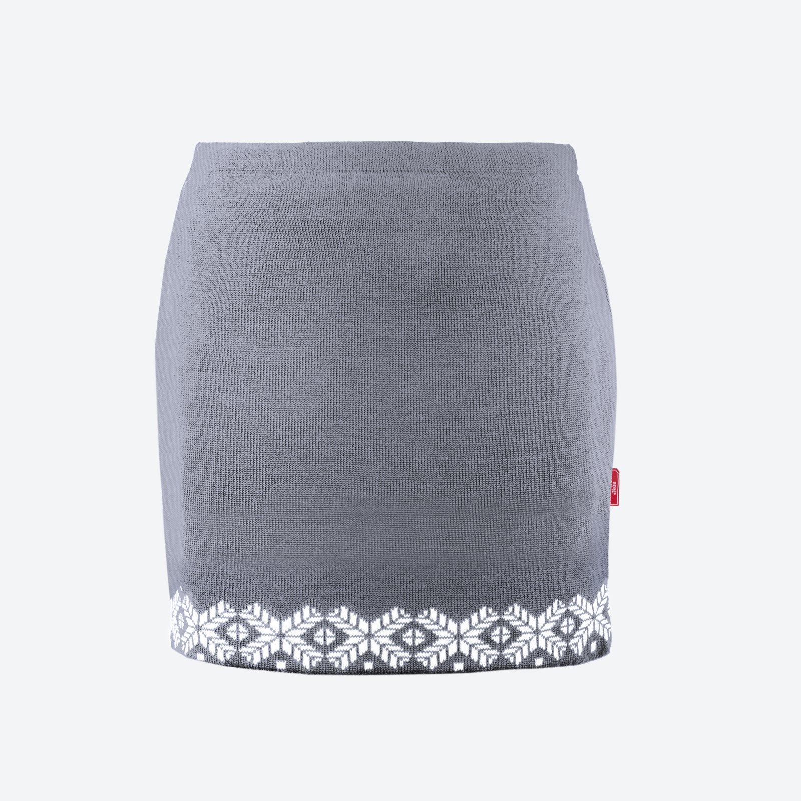2e621f15753 Pletená Merino sukně Kama 6002 šedá