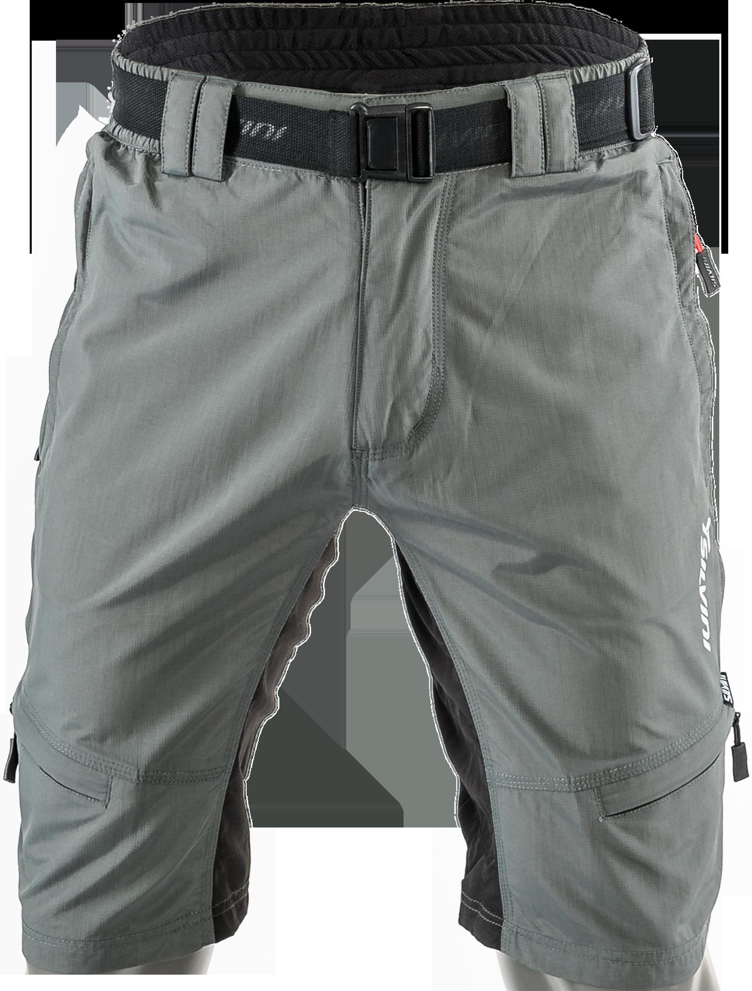 Cyklistické kalhoty MTB Silvini RANGO MP857 bez cyklovložky šedé červené  pánské dc8d6ef945