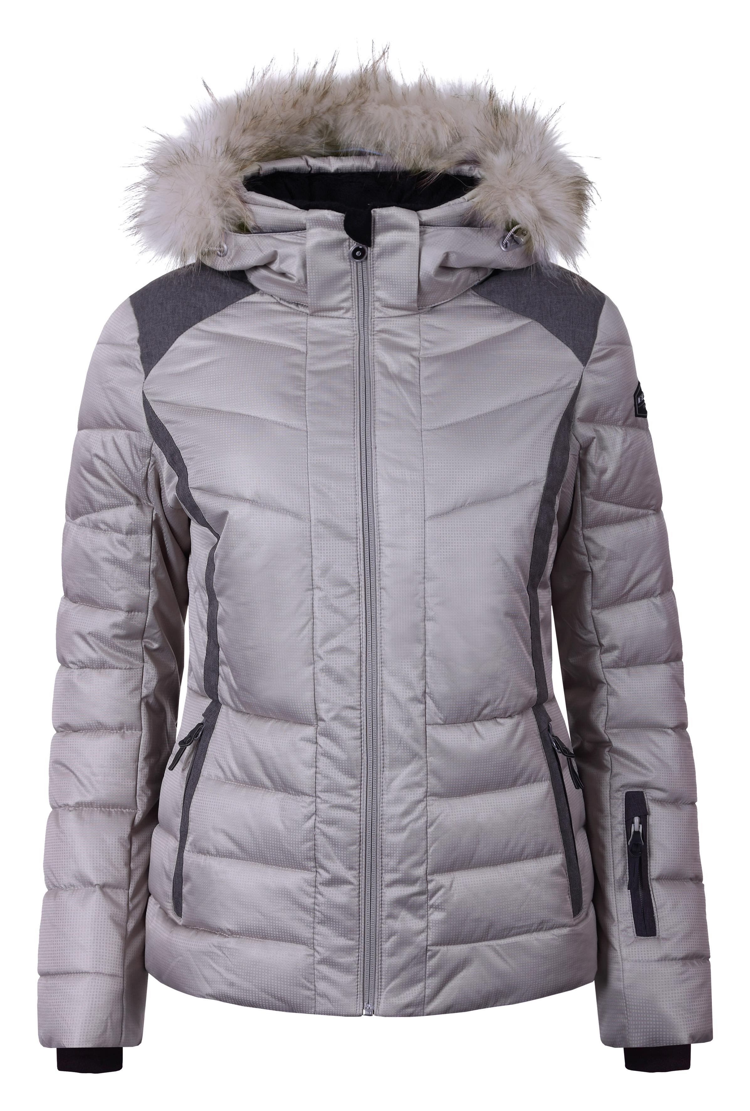 dd95c765f53 Dámská zimní bunda Icepeak Cindy IA s pravou kožešinou hnědá col. 080