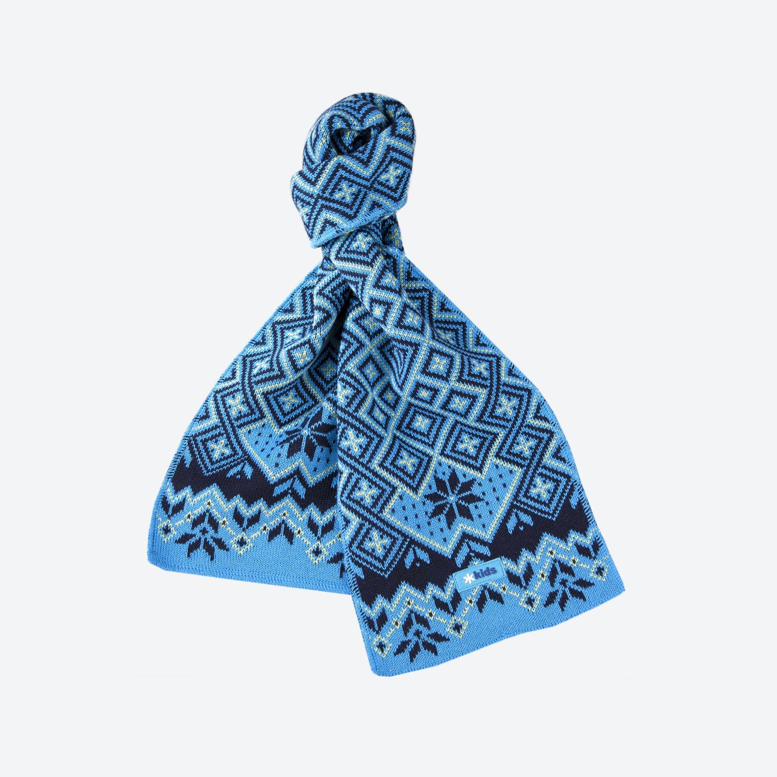 c56dc1380d1 Dětská pletená Merino šála Kama SB07 modrá