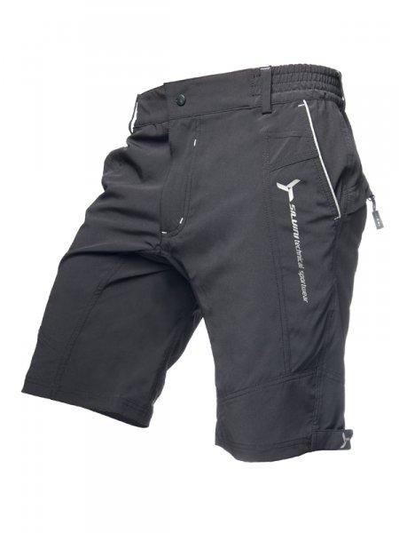 d8f66f9a173 Pánské cyklistické šortky Silvini Borgo MP254 šedo-černé