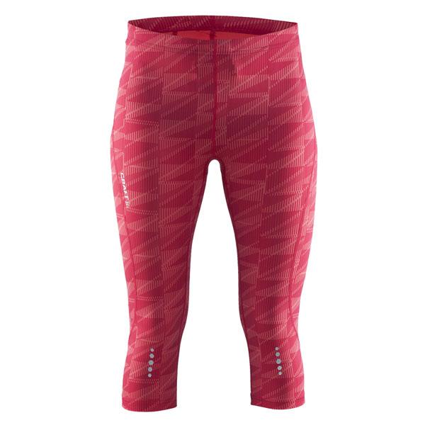 Dámské kalhoty Craft Mind Capri 1903945-1073 růžové s potiskem empty 303fff4f8d