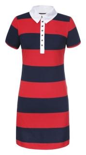 Letní šaty Luhta ASTA červená tm. modrá empty 746a3f0059